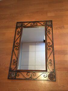 Miroir fer forgé noir