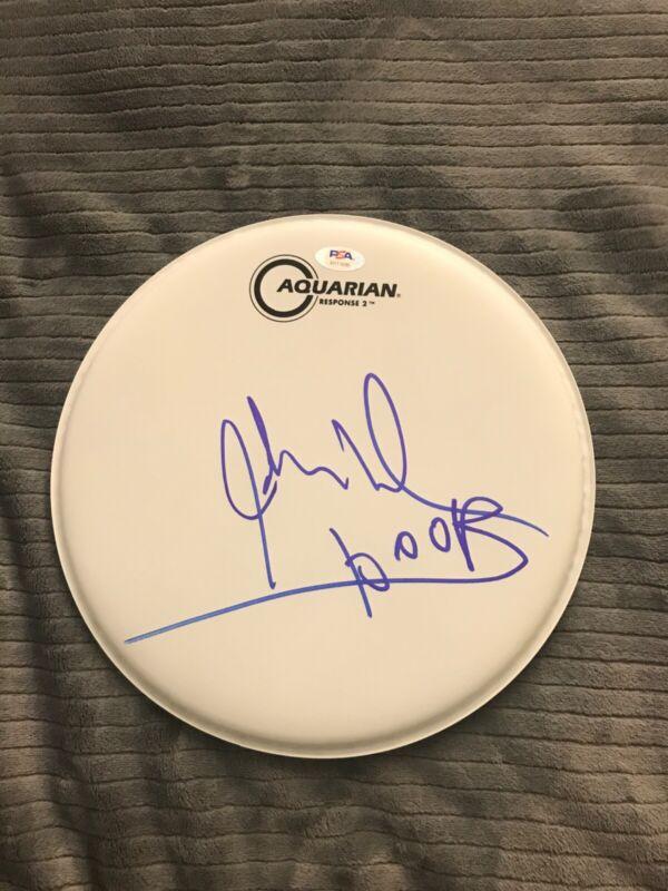"John Densmore Signed Autograph 10"" Drumhead THE DOORS Drummer PSA/DNA COA"