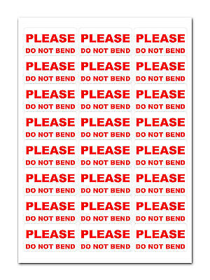1200 - Please Do Not Bend - Medium Labels Stickers