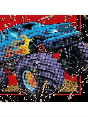 Mudslinger Monster Truck Party Supplies  Beverage Napkins 16Ct