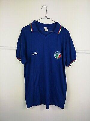Italy 1990 Vintage Football Shirt Home Diadora Original Men's Large image