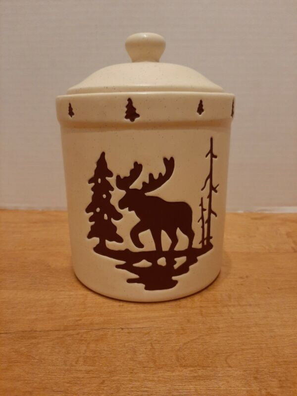 Honour Pottery Moose Canister Cookie Jar