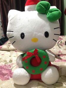 TY Christmas Hello Kitty plush!!