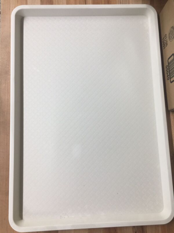 """18""""x26"""" Sheet Pan/ Display Tray White Texured """"Clipper"""" 6/case"""