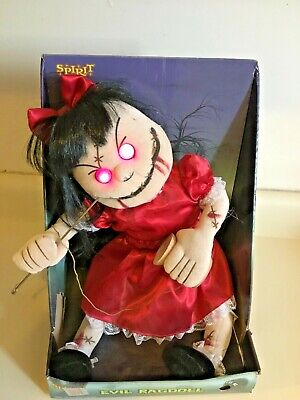 Spirit Halloween Prop 2014 Evil Rag Doll - Works great. Never removed from box