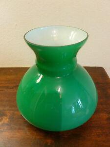 ... zu Paralume ricambio vetro verde vintage per lampada glass lampshade