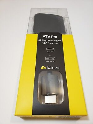 Kanex ATV PRO - HDMI to VGA Adapter For Apple TV New Sealed AirPlay Mirroring  (Apple Airplay Tv)