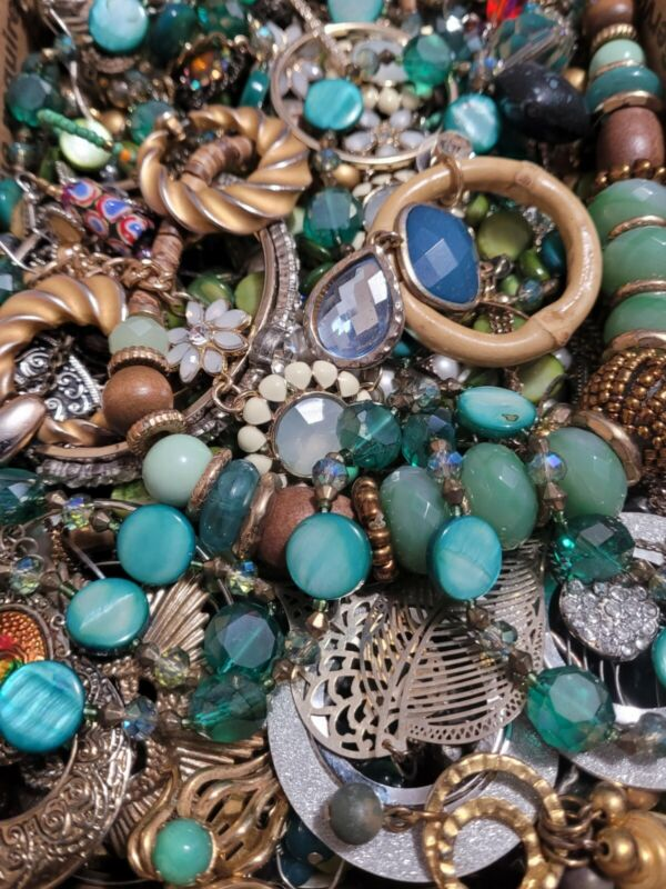 #24 Huge Harvest Craft Jewelry Lot 2-3 Full lbs Vintage to Now *NO TRASH*