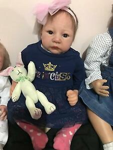 "22""Reborn Baby Girl Doll vinyle lifelike newborn Docklands Melbourne City Preview"