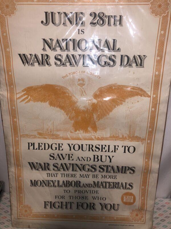 1918 WW1 War Bond Poster