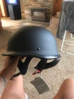 German skull cap motorbike helmet