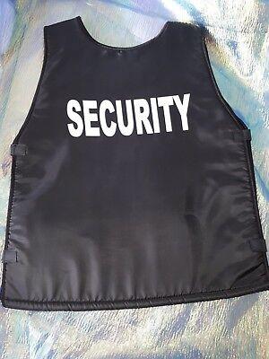 Security-Weste schwarz 128-152 Einsatzweste Kostüm Schutzweste 2.Wahl 12226913 ()