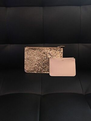 Gold Glitter/sequin Pouch Medium and Small Beads And Sequins Pouch