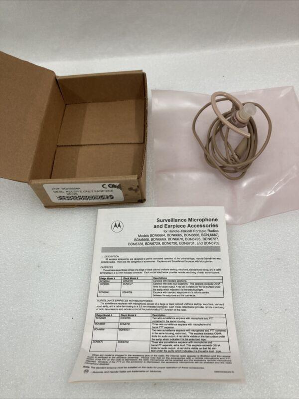"""Motorola Beige Surveillance Earpiece -Reversible Earloop -48"""" Lead -BDN Series"""