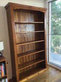 Timber Bookcase - shelving unit