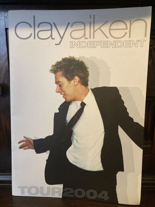 Clay Aiken Concert Program 2004 Independent Tour American Idol Photo Guide Trib