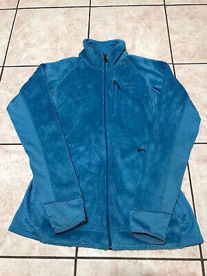 Patagonia Polartec Full Zipper Light Blue Light Jacket Size L Womens