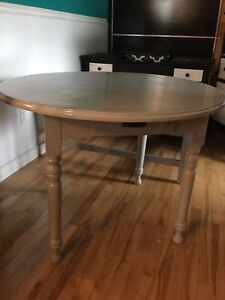 Grey country dining table