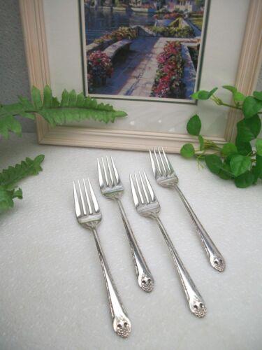 4   International Holmes & Edwards  LOVELY LADY  Silverplate  Salad Forks   1937