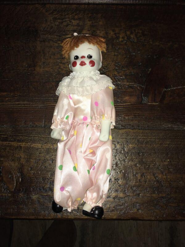 """Adorable Porcelain Clown/Doll - 10"""""""
