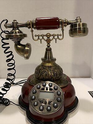 Fashion Resin Phone Antique Landline Telephone Vintage Home Phone Push Button