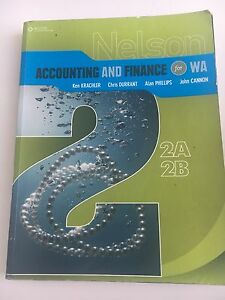 Year 11 - ACCOUNTING & FINANCE TEXTBOOK Claremont Nedlands Area Preview