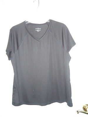 Nwt Be Inspired Athletic Apparel For Belk Shirt Performance Wicking Black Sz L