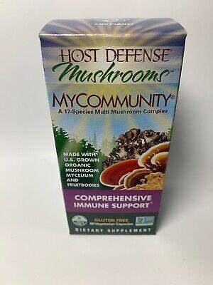 Host Defense MyCommunity My Community Immune Support Capsules 60 Caps Exp 8/22