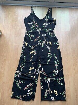 DOROTHY PERKINS Black Floral Jumpsuit Size 14