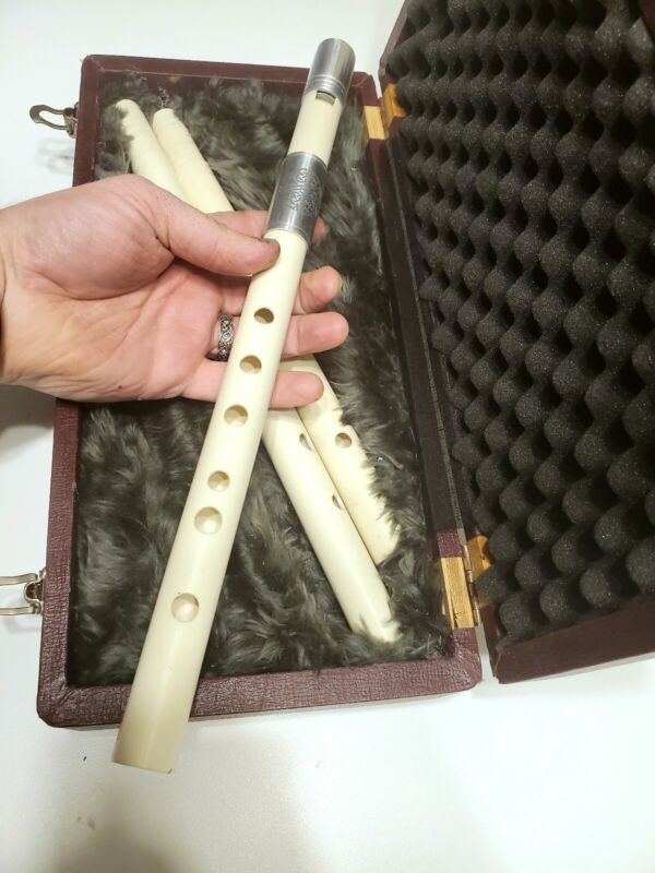 Low G, A, and Bb Irish Tin Whistle Set Penny  3 Bodies 1 Mouthpiece + case
