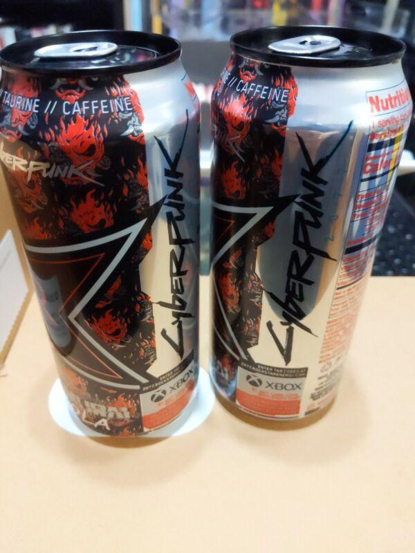 2 NEW Cans! Rockstar - Cyberpunk 2077 Samurai Cola Sealed Can Rare Promo
