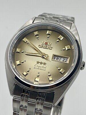 Genuine  Orient Men's  Automatic Silver Watch W/ Box  FAB00009P9
