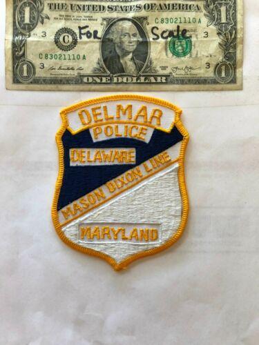 DELMAR Police Patch (Maryland/Delaware Mason Dixon line) un-sewn (VERY UNIQUE)