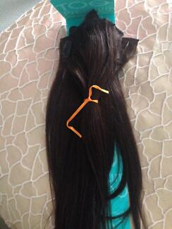 Brown human hair extensions ( dark brown)