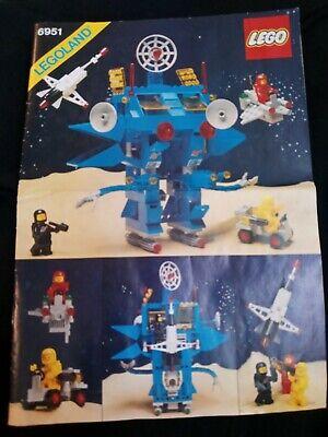 Lego Robot Command Center 6951 vintage instruction Manual Only Space Set