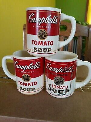 Set Of 3 Vintage Tomato Soups Mugs/coffee Cups