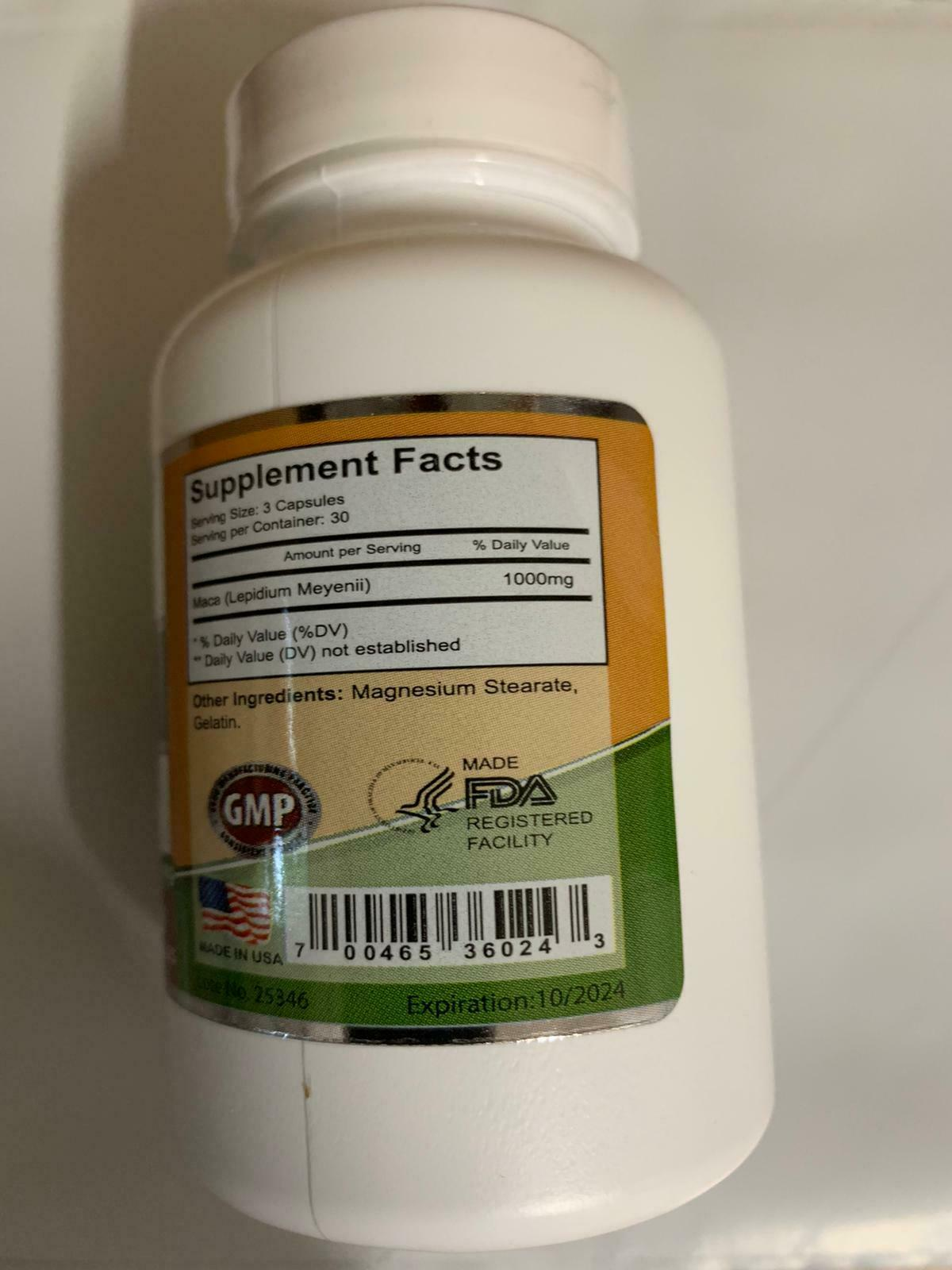 MACA ROOT 1000 MG MALE ENHANCER POTENCY SEXUAL ENHANCEMENT POWER ENERGY PILLS  6
