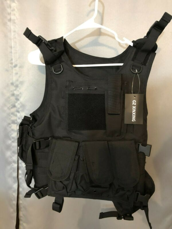 GZ XINXING Black Tactical Airsoft Paintball Vest NEW