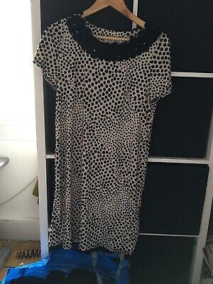Julian Taylor Size 12 Polka Dot Knee Length Short Sleeve Dress (D2)