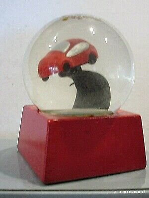 RED RACY CAR SNOW GLOBE -Personalize The Base For Your Car Lover - NEW](Personalized Snow Globes)