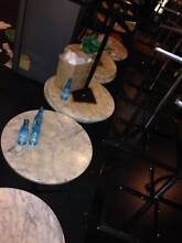 Cafe tables 16x round marble,square marble laminate,16x vanneer Surry Hills Inner Sydney Preview