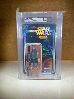 2019 Star Wars 40th Anniversary Boba Fett AFA U8.5 Black Series SDCC Exclusive