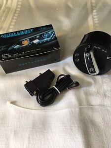 VW Golf MK5 MK6 AUTO Head Light Sensor Switch module Upgrade Kit & Switch New