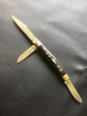 """ANTIQUE EYE BRAND KNIFE CARL SCHLIPER """"REMSCHEID"""" 18th CENTURY GERMANY KNIFE RAR"""