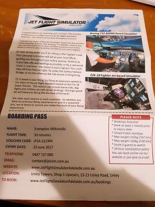 Jet Flight Simulator Ticket Magill Campbelltown Area Preview