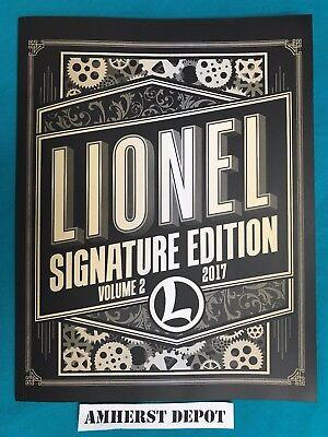 Lionel Signature Edition Volume 2 Catalog 2017 NEW