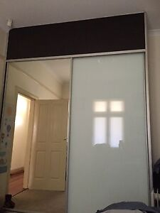 Built in wardrobe frosted and clear glass sliding Burwood Burwood Area Preview