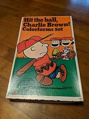 COLORFORMS HIT THE BALL CHARLIE BROWN 1972