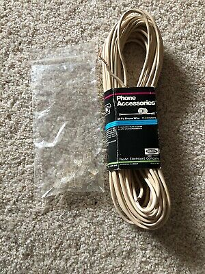 50' ft Telephone Extension Cord Phone Cable RJ-11 4 Wire Line Jacks W/Connection Rj11 Phone Jacks