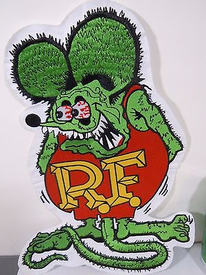Large RAT FINK R.F. Iconic Embroidered Iron-On Patch - 12